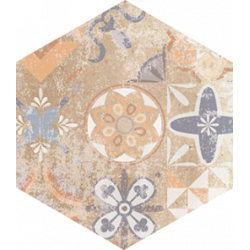 Flīzes FLAMENCO FLM02 28*33 standart natural patchwork HEXAGON