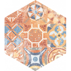 Flīzes FLAMENCO FLM06 28*33 standart natural patchwork HEXAGON
