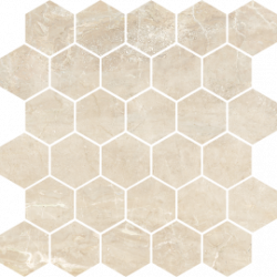 Flīzes GOLDEN BEIGE GB03 Mozaika 27*27 poler rectified HEXAGON