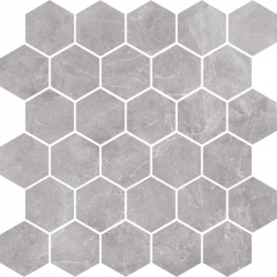 Flīzes SILVER GREY SY12 Mozaika 27*27 poler rectified HEXAGON